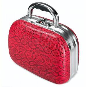 Kosmetikos lagaminas, Raudonas