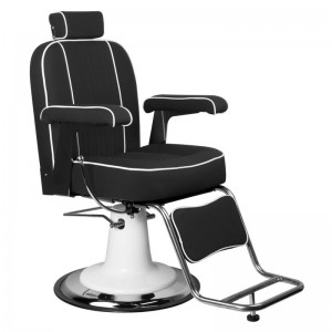 Barber kėdė GABBIANO AMADEO Black ARMCHAIR