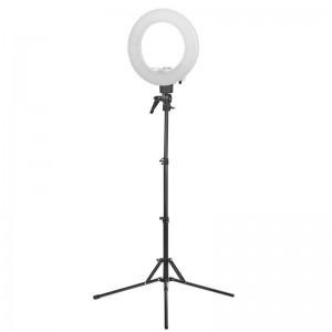 Žiedinė  LED makiažo lempa 12' 35W LED BALTA + TRIKOJIS