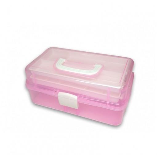Plastikinė dėžutė įrankiams Pink