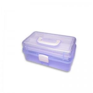Plastikinė dėžutė įrankiams Violetinė