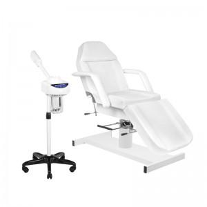 Rinkinys: Hidraulinė kosmetologinė lova A-210 + Kosmetologinis garintuvas JY08