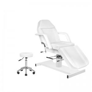 Rinkinys: Hidraulinė kosmetologinė lova A-210 + Meistro kėdutė AM-303