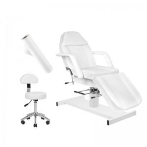 Rinkinys: Hidraulinė kosmetologinė lova A-210 + Meistro kėdutė AM-304 + Flizelino rulonas