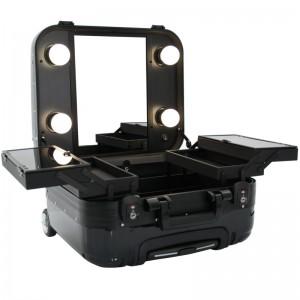 Mobilus lagaminas grožio specialistams BLACK GLAMOR 9301