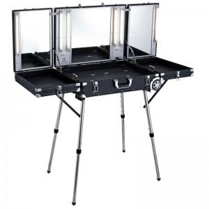 Mobilus lagaminas grožio specialistams GLAMOUR BLACK D-6980K