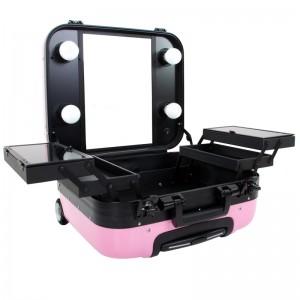 Mobilus lagaminas grožio specialistams PINK GLAMOR 9302-2