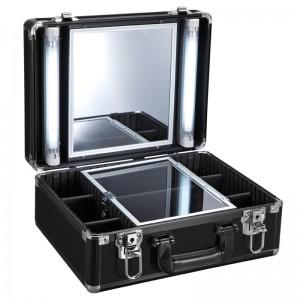 Mobilus lagaminas grožio specialistams BLACK GLAMOR 9500K