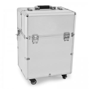 Mobilus lagaminas grožio specialistams 9006 SILVER GLAMOUR