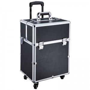Mobilus lagaminas grožio specialistams GLAMOUR D-9006 BLACK