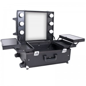 Mobilus lagaminas grožio specialistams GLAMOUR BLACK CUBE 9552