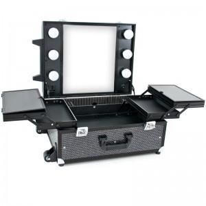 Mobilus lagaminas grožio specialistams BLACK CRYSTAL GLAMOUR 9552