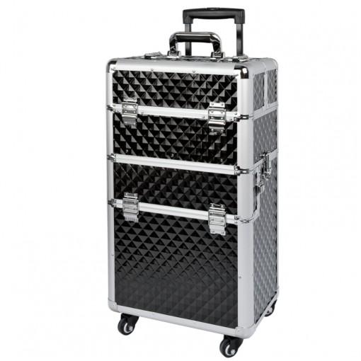 Mobilus lagaminas grožio specialistams GLAMOR D-9009 BLACK DIAMOND