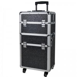 Mobilus lagaminas grožio specialistams BLACK CRYSTAL GLAMOUR D9009