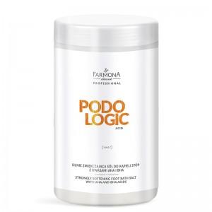 FARMONA PODOLOGIC ACID Stipriai minkštinanti kojų vonios druska su AHA ir BHA rūgštimis 1500g