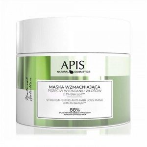 APIS NATURAL SOLUTION, stiprinanti plaukų kaukė nuo slinkimo su 3% BAICAPIL, 200 ML