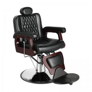 Barber kėdė kirpykloms ROCCO, juoda