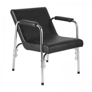 Kėdė - fotelis galvos plovimui su atlenkiamu atlošu GB1004A, juoda