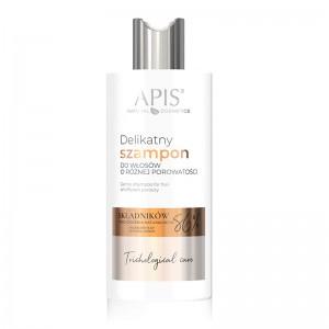 APIS TRICHOLOGICAL CARE Švelnus šampūnas skirtingo poringumo plaukams 300ml