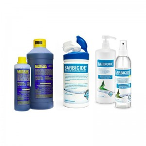 BARBICIDAS - RINKINYS koncentratas 2000 ml + rankų dezinfekcinis skystis 250 ml + servetėlės 120 vnt.