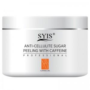 SYIS anticeliulitinis cukraus šveitiklis kūnui su kofeinu, 500 g