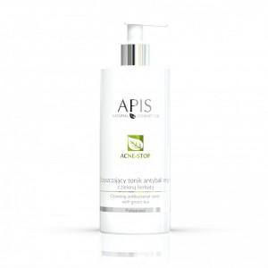 APIS Acne-Stop antibakterinis valomasis tonikas su žaliąja arbata 500ml