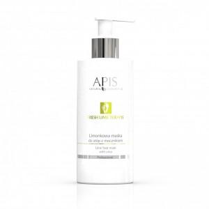APIS Fresh Lime terApis Lime gelio pėdų kaukė su glikolio rūgštimi ir karbamidu 500ml