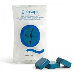 Kietasis vaškas depiliacijai QUICKEPIL 1 KG Mėlynas