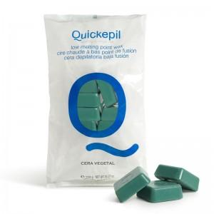 Kietasis vaškas depiliacijai QUICKEPIL 1 KG Žalias