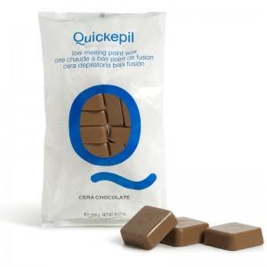 Kietasis vaškas depiliacijai QUICKEPIL 1 KG Šokoladas