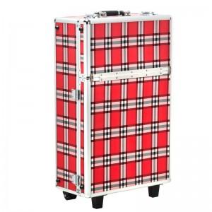 Kosmetinis lagaminėlis S-015 RED GRID