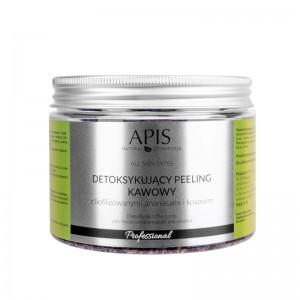 APIS detoksikuojantis pilingas su ananasų, kavos, kokosų aromatu 300g