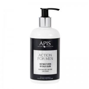 APIS Action for Men - Maitinamasis ir drėkinamasis kūno ir rankų kremas 300ml