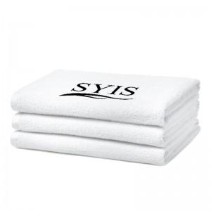 SYIS kilpinis rankšluostis su logotipu, 50x90 - baltas