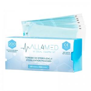 Sterilizavimo maišeliai autoklave ar sterilizuotų įrankių laikymui ALL4MED  57MM X 100 MM 200SZT