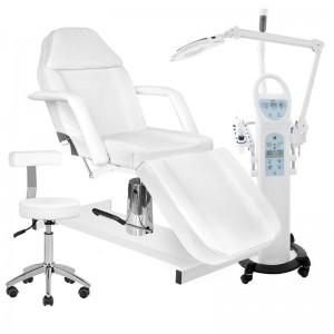 AZZURRO SONIA 15 in 1 kombainas + hidraulinė kosmetologinė kėdė/lova + meistro kėdė