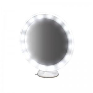 Makiažo veidrodis su apšvietimu, įsiurbimo taurele MC65 Su baterija