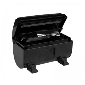 Folijos dėžutė - dozatorius  Juodas