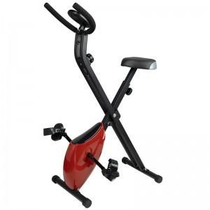 Sulankstomas stacionarus dviratis - treniruoklis X-BIKE Raudonas