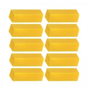 Nagų blokelis geltonas, 10vnt.