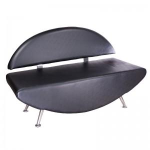 Kirpyklos laukiamojo sofa Carini BD-6710 Juoda