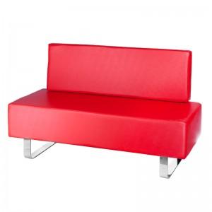 Kirpyklos laukiamojo sofa Messina BD-6713 Raudona