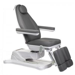 Elektrinė kosmetologinė kėdė - lova pedikiūrui Mazaro BR-6672A Pilka