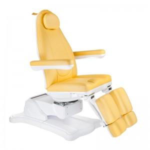 Elektrinė kosmetologinė kėdė - lova pedikiūrui Mazaro BR-6672A Medaus spalvos