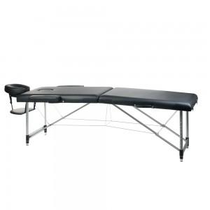 Aliuminis sulankstomas masažo stalas BS-723 Juoda