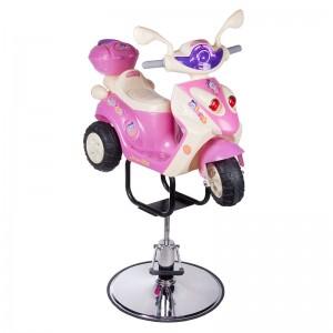 Vaikiška kirpyklos kėdė BW-10886 MOTOROLERIS Rožinis
