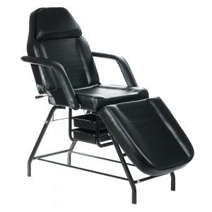 Kosmetologinė kėdė - lova BW-262 Juoda