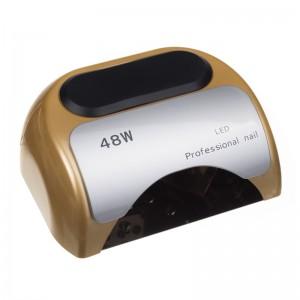 Lampa 48W Dual LED UV Timer + Sensor LED06 Auksinė