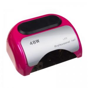 Lampa 48W Dual LED UV Timer + Sensor LED06 Rožinė
